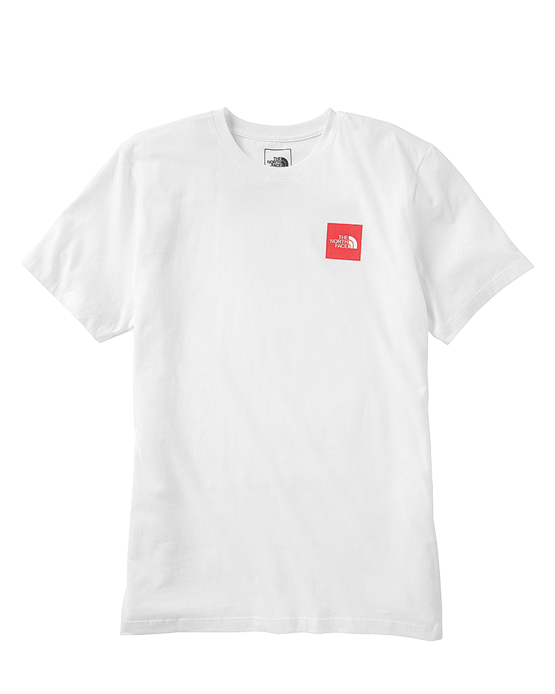 SS Red Box Tee in TNF White