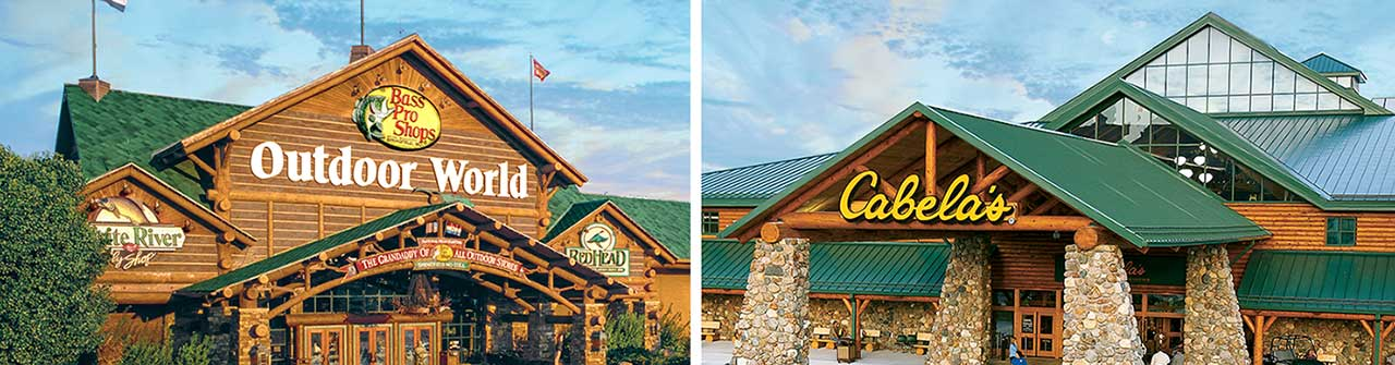 Bass Pro Shops Outdoor World & Cabela's storefronts