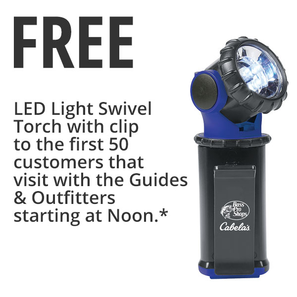 Free flashlights to the first 50