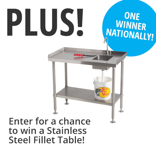 Enter for a chance to win Stainless Fillet Table