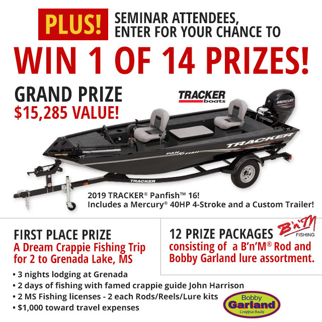 Enter for your chance to win a 2019 Tracker Panfish 16!