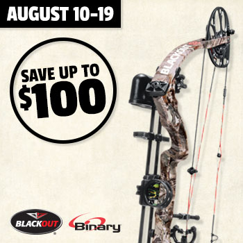 August 10-19 Save up to $100 when you trade in bows & crossbows