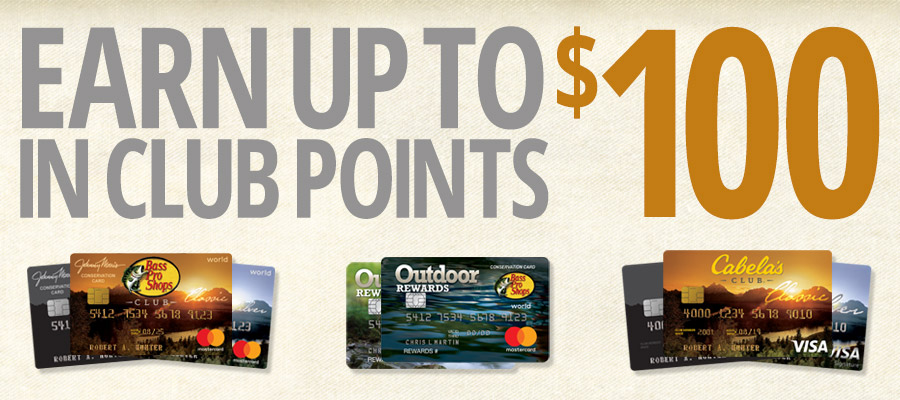 Earn up to $100 in CLUB Points!