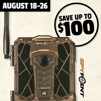 August 18-26 Save up to $100 when you trade in game cameras