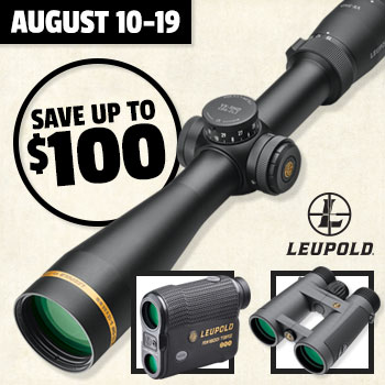August 10-19 Save up to $100 when you trade in optics