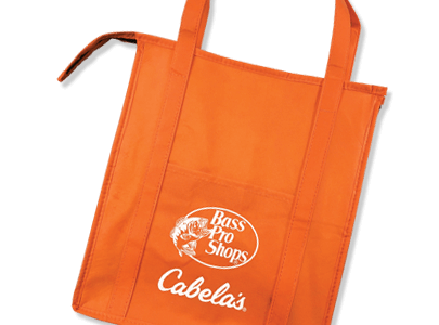 Orange Bass Pro & Cabela's tote