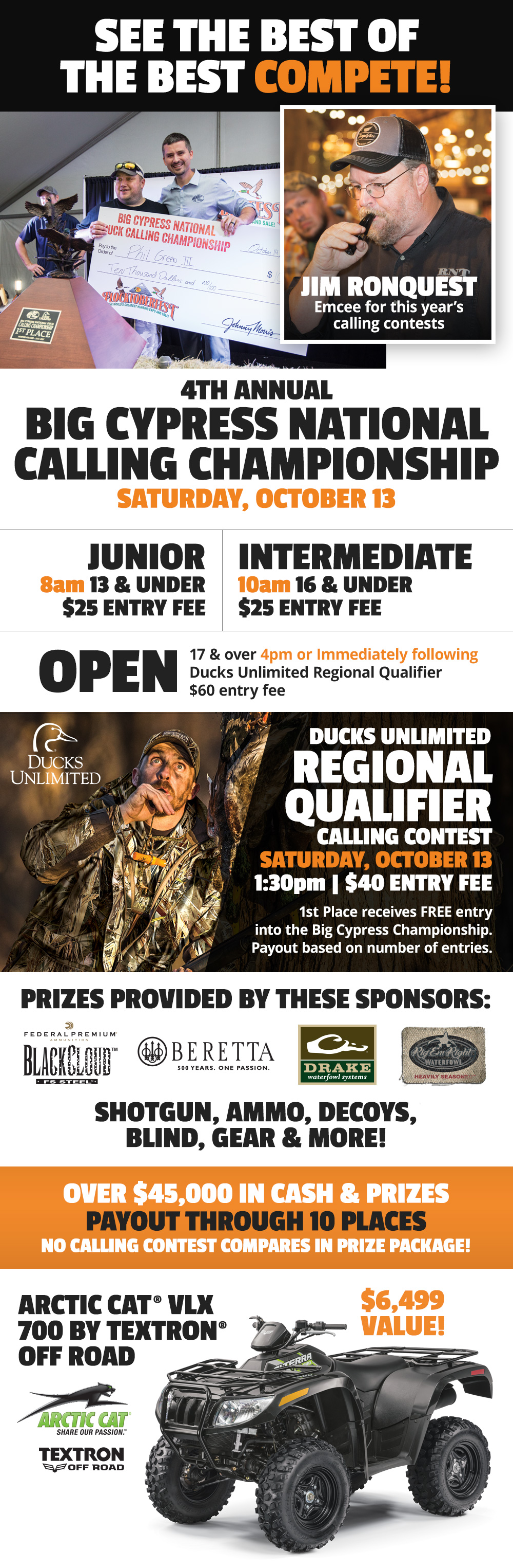 2 Big Duck-Calling Competitions - Saturday, October 13