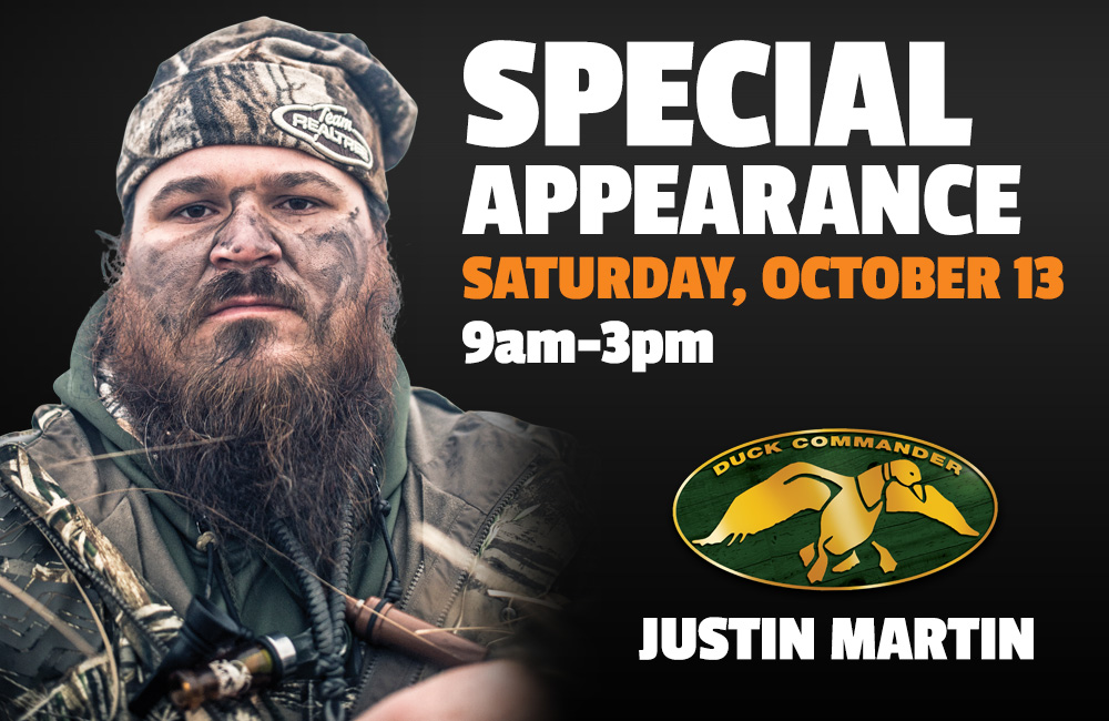 Justin Martin - Saturday, October 13 9am-3pm