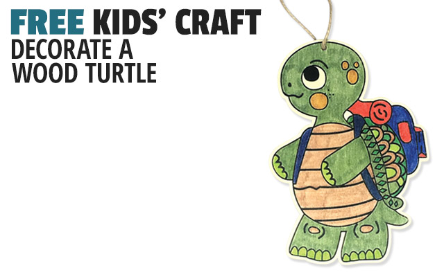 Decorate a Wood Turtle Craft