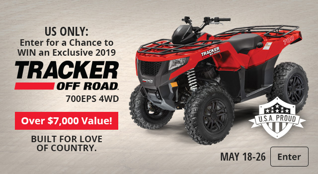 TRACKER OFF ROAD ATV Giveaway - Enter Now