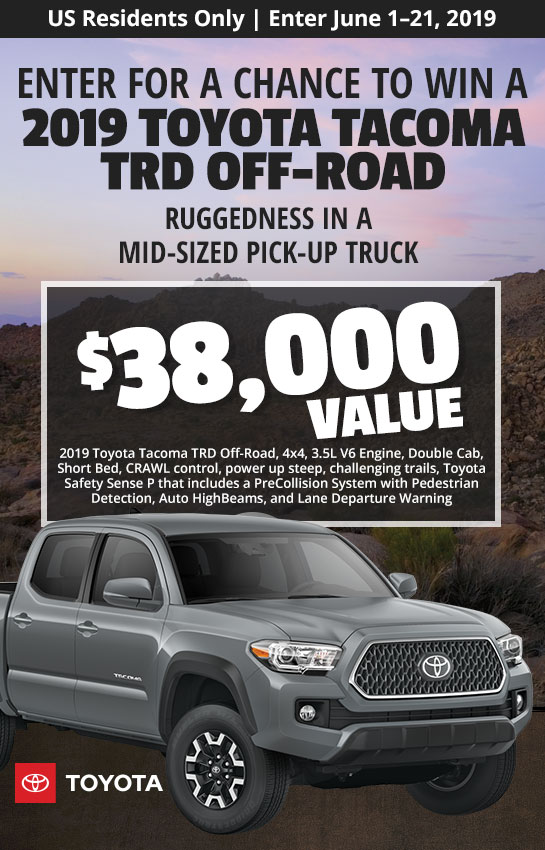 US - Enter for a Chance to Win the Perfect Gift for Dad - 2019 Toyota Tacoma TRD Off-Road