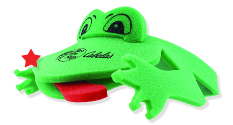 frog visor with tongue out