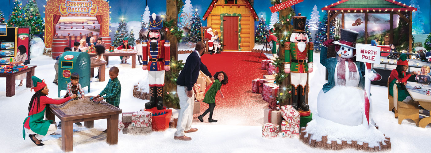 Child Pulling Father into Santa's Wonderland