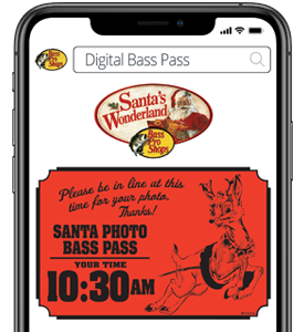Santa Photo Digital Bass Pass