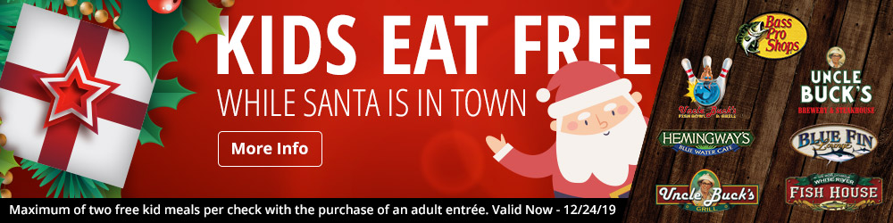 Kids Eat FREE While Santa's In Town