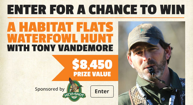 Enter for a Chance to Win a Habitat Flats Waterfowl Hunt with Tony Vandemore