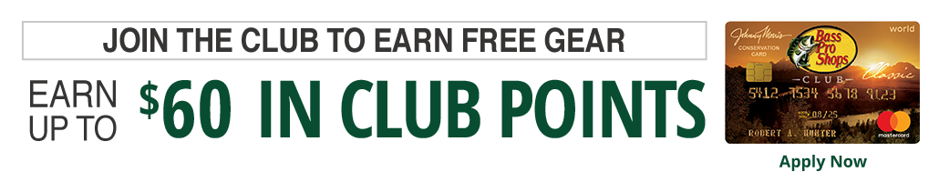 Join the CLUB and get $60 towards free gear on today's purchase
